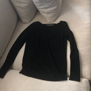 Lu Lu Lemon black open back sweater
